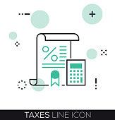 TAXES LINE ICON