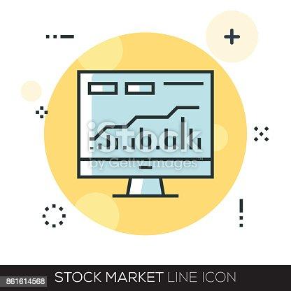 STOCK MARKET LINE ICON
