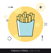 FRENCH FRIES LINE ICON