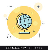GEOGRAPHY LINE ICON