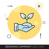 GROWING COMPANY LINE ICON