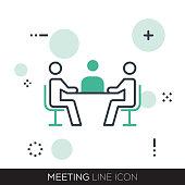 MEETING LINE ICON