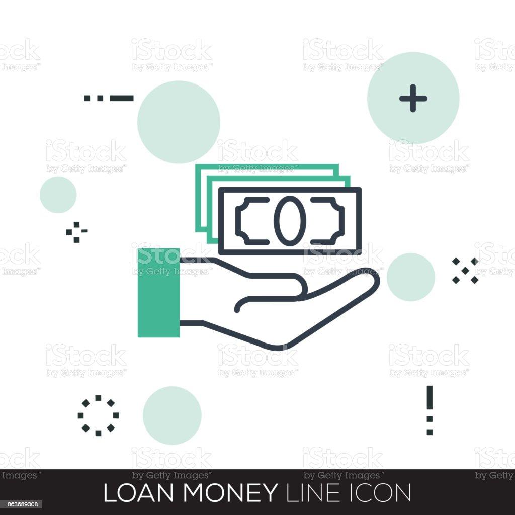 Loan Money Line Icon Stock Illustration - Download Image ...