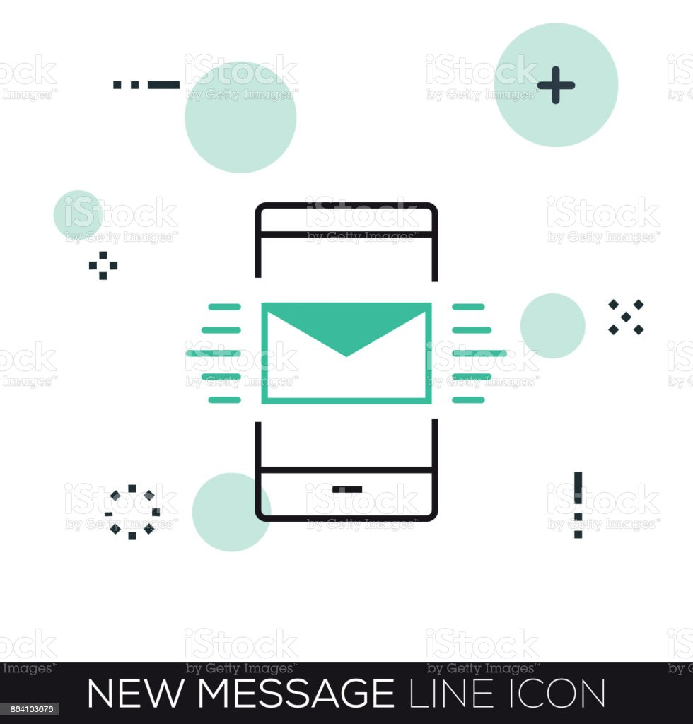 NEW MESSAGE LINE ICON royalty-free new message line icon stock vector art & more images of business