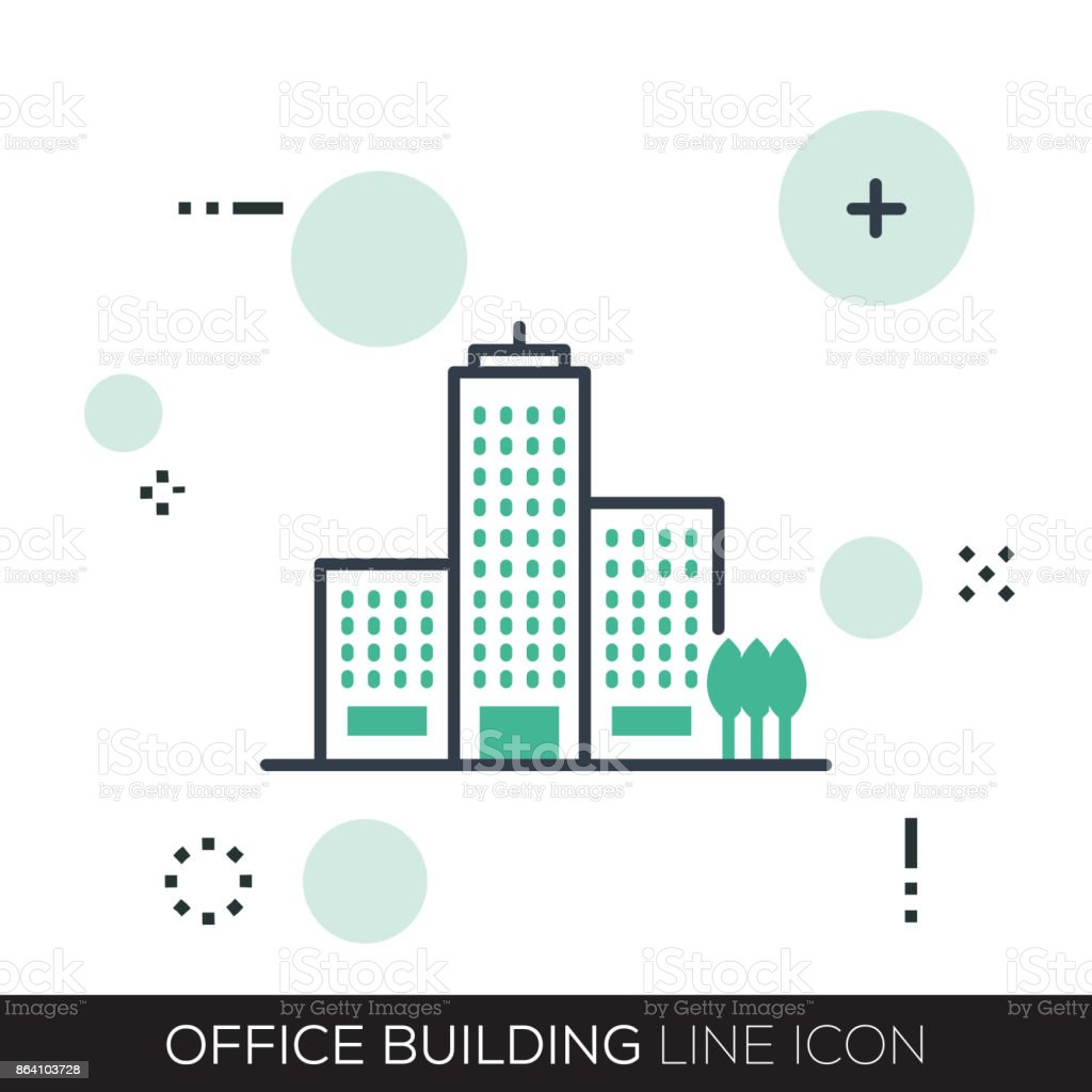 OFFICE BUILDING LINE ICON royalty-free office building line icon stock vector art & more images of apartment