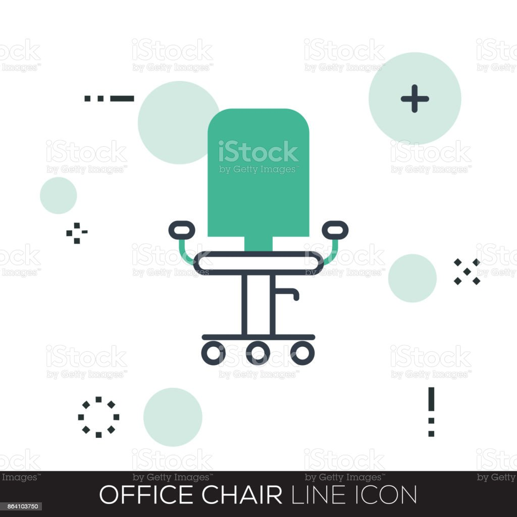 OFFICE CHAIR LINE ICON royalty-free office chair line icon stock vector art & more images of arts culture and entertainment