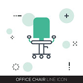 OFFICE CHAIR LINE ICON