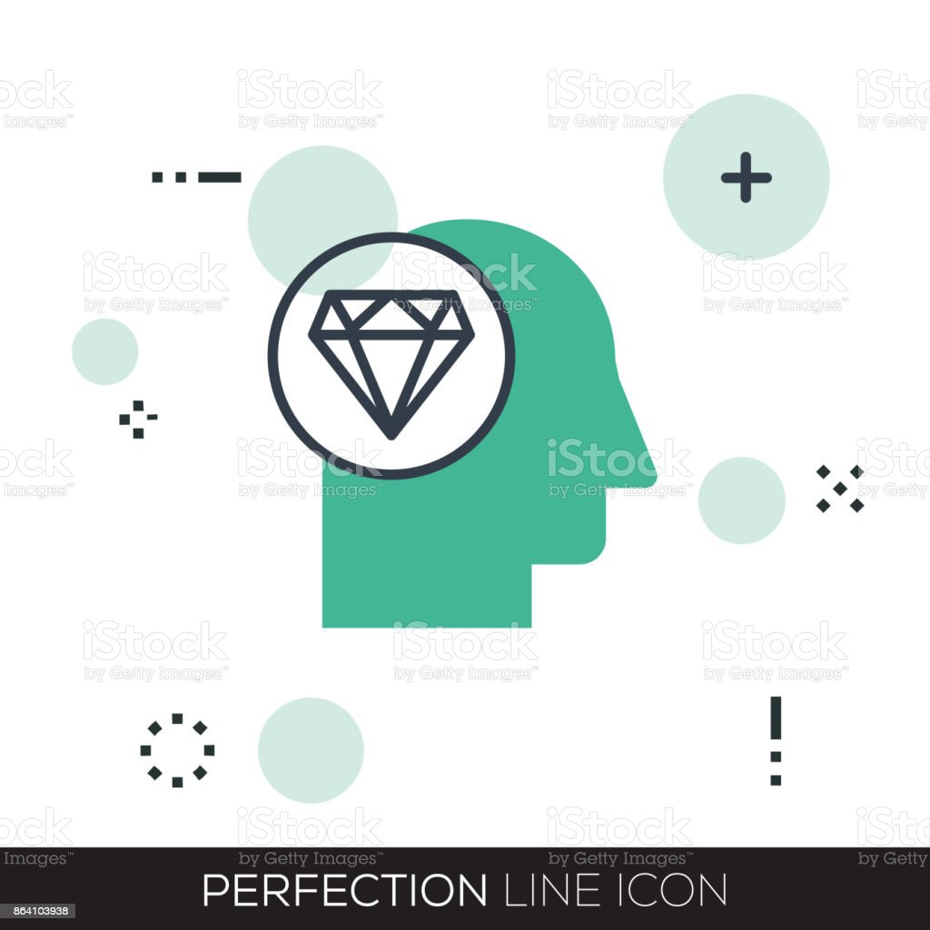 PERFECTION LINE ICON royalty-free perfection line icon stock vector art & more images of adult