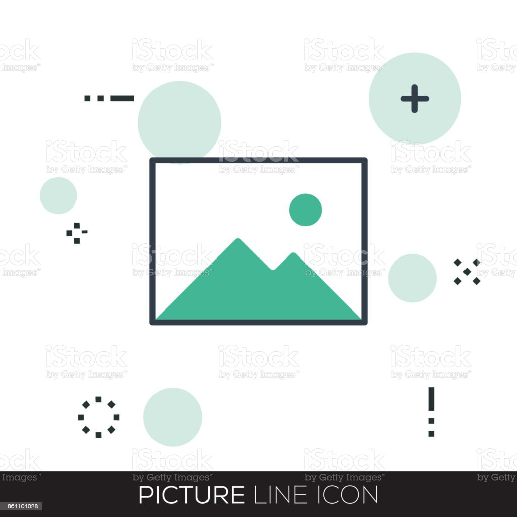 PICTURE LINE ICON royalty-free picture line icon stock vector art & more images of art