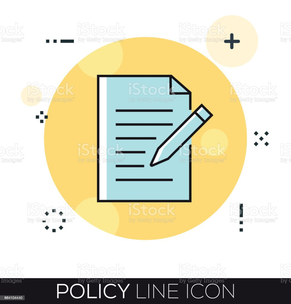 POLICY LINE ICON royalty-free policy line icon stock vector art & more images of accidents and disasters
