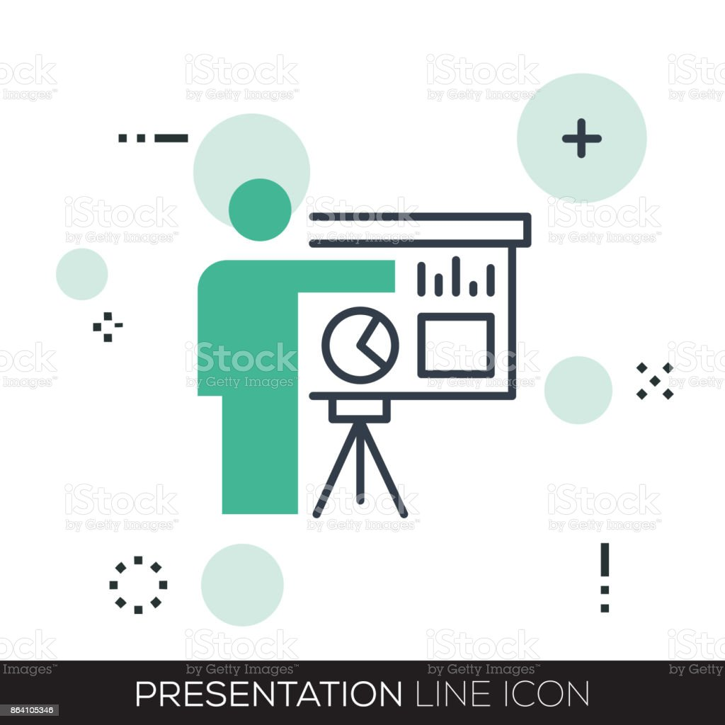 PRESENTATION LINE ICON royalty-free presentation line icon stock vector art & more images of audience