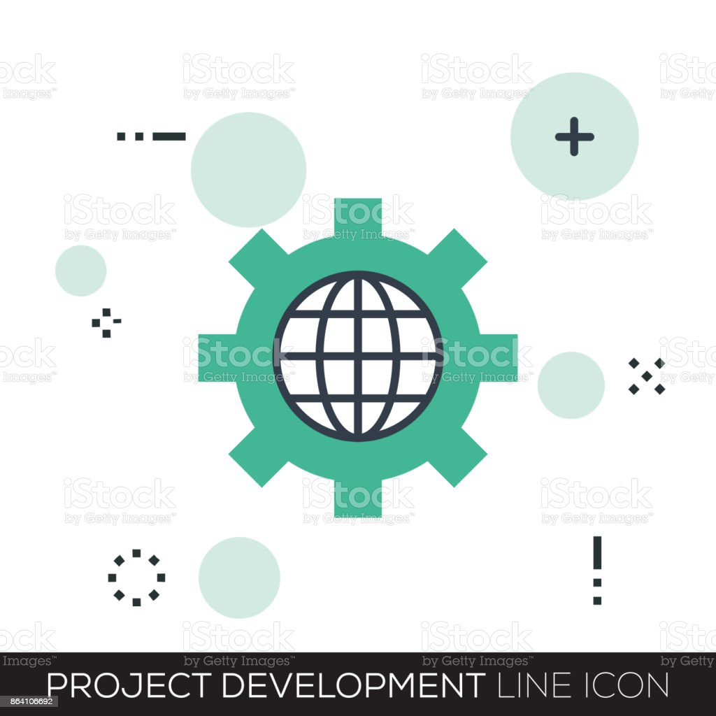 PROJECT DEVELOPMENT LINE ICON royalty-free project development line icon stock vector art & more images of accessibility