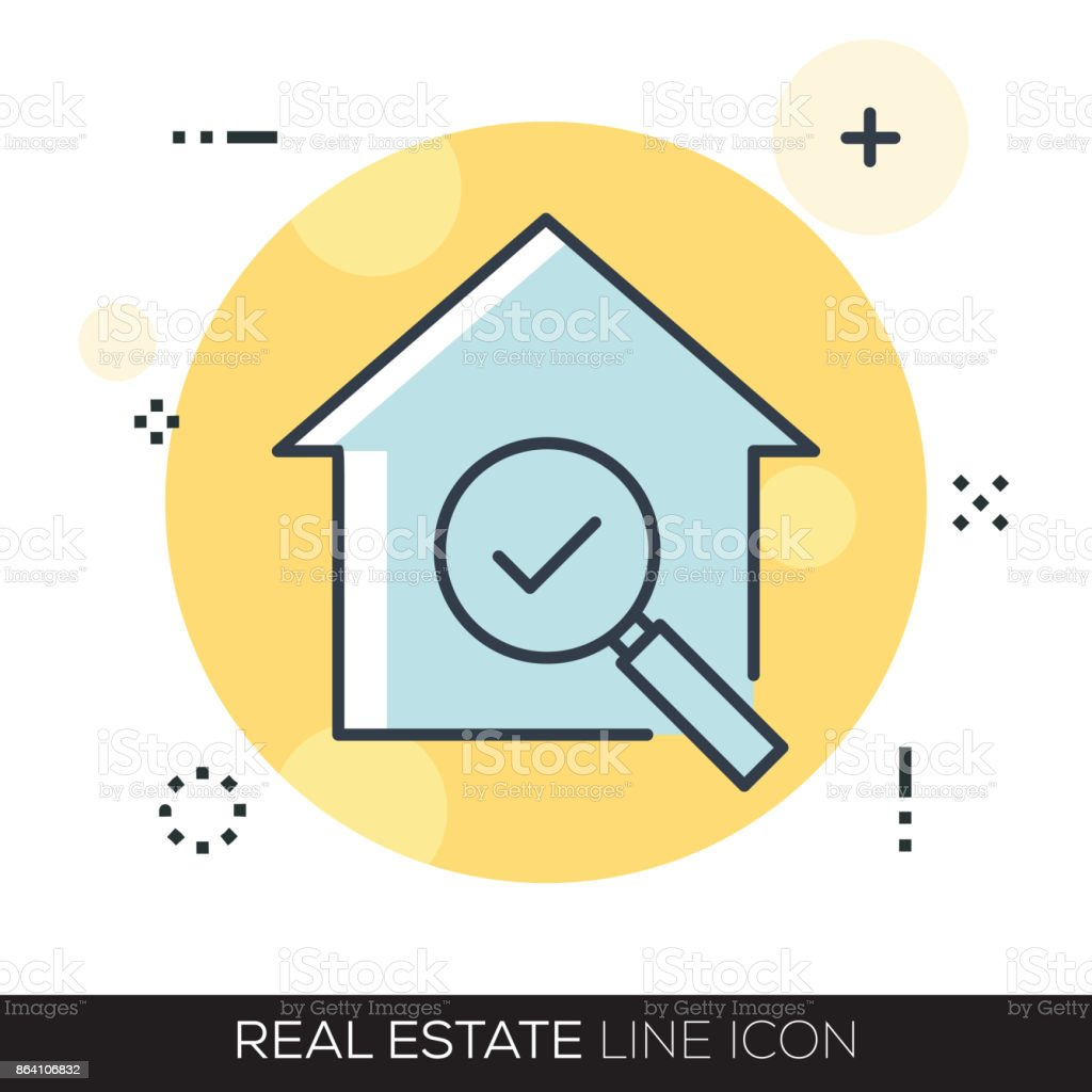 REAL ESTATE LINE ICON royalty-free real estate line icon stock vector art & more images of advertisement