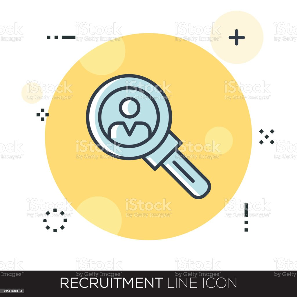 RECRUITMENT LINE ICON royalty-free recruitment line icon stock vector art & more images of adult