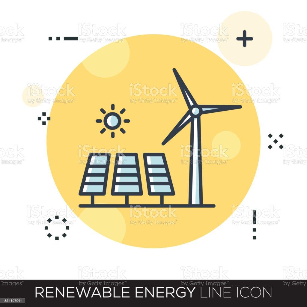 RENEWABLE ENERGY LINE ICON royalty-free renewable energy line icon stock vector art & more images of arranging