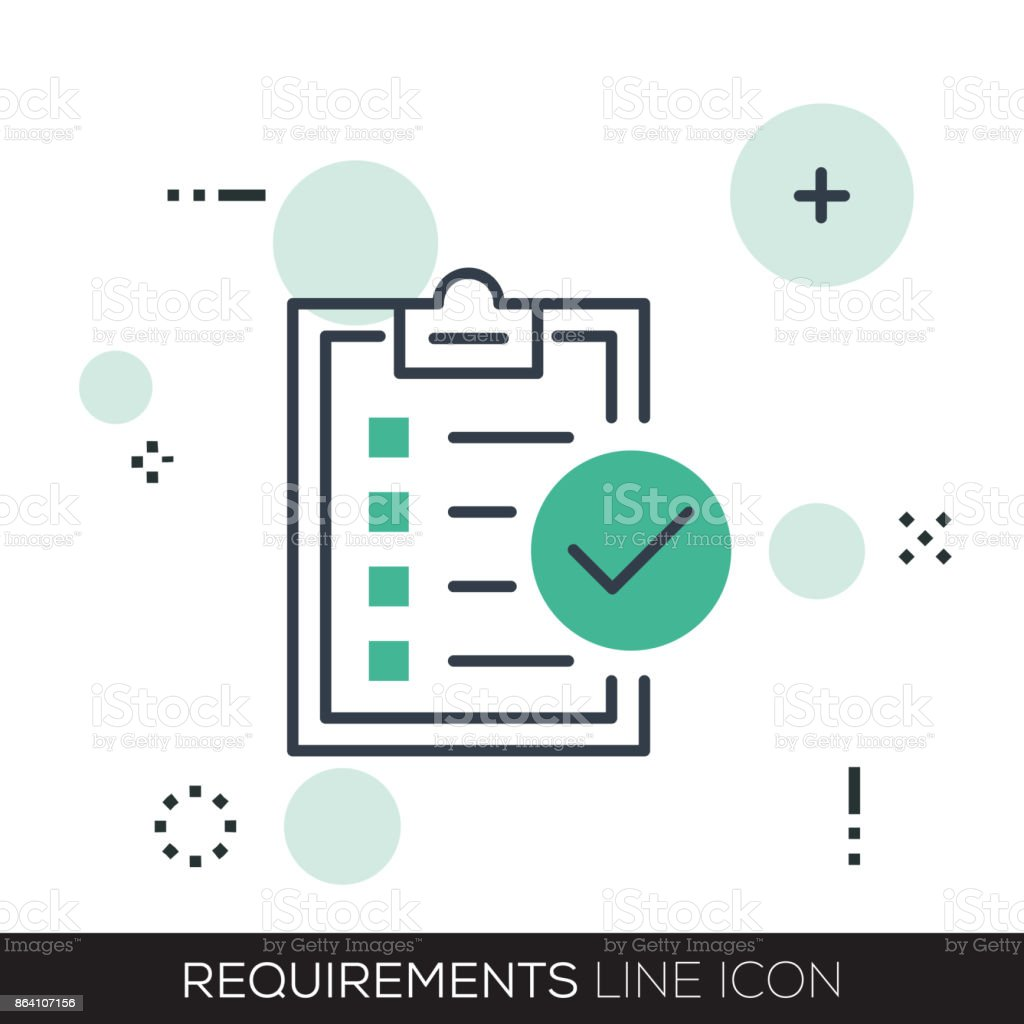 REQUIREMENTS LINE ICON royalty-free requirements line icon stock vector art & more images of advice