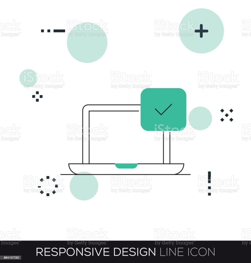 RESPONSIVE DESIGN LINE ICON royalty-free responsive design line icon stock vector art & more images of abstract