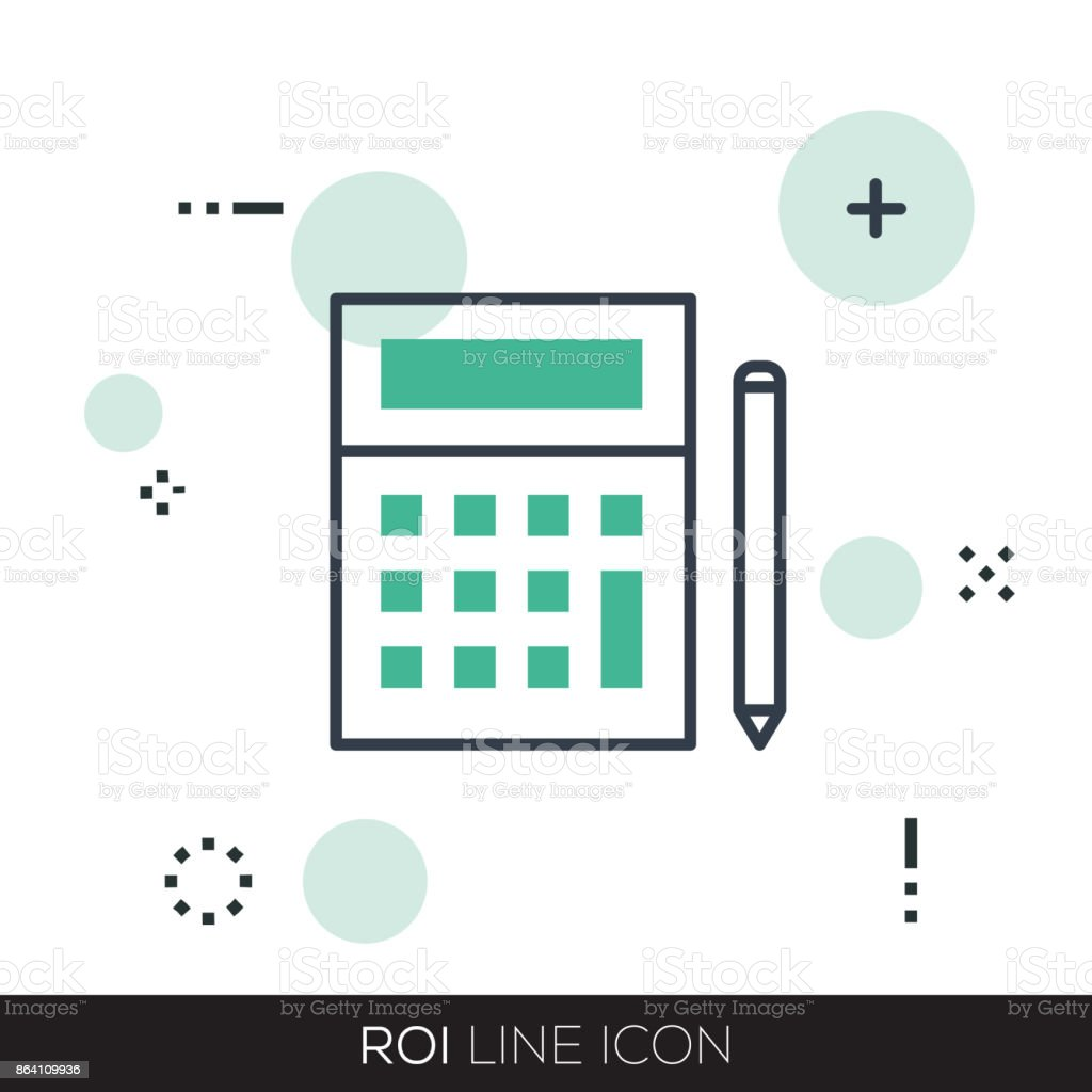 ROI LINE ICON royalty-free roi line icon stock vector art & more images of american one dollar bill