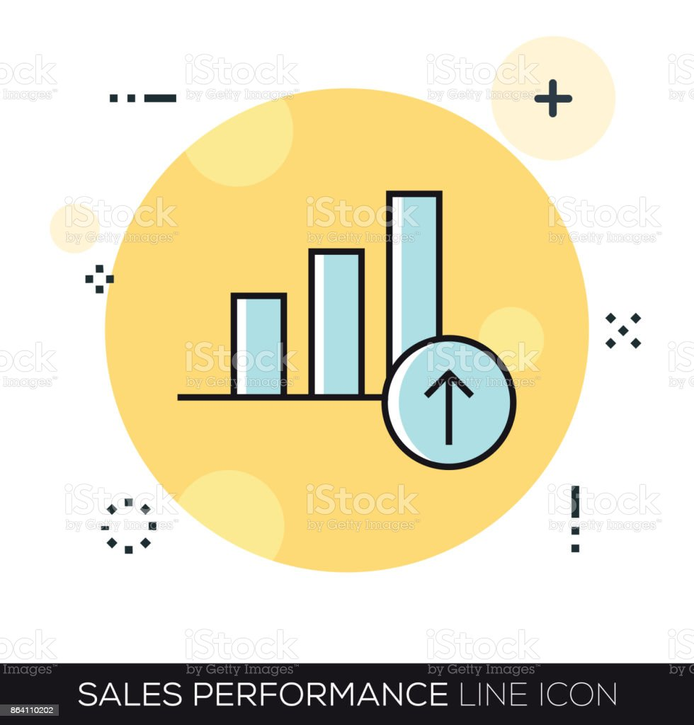 SALES PERFORMANCE LINE ICON royalty-free sales performance line icon stock vector art & more images of analyzing
