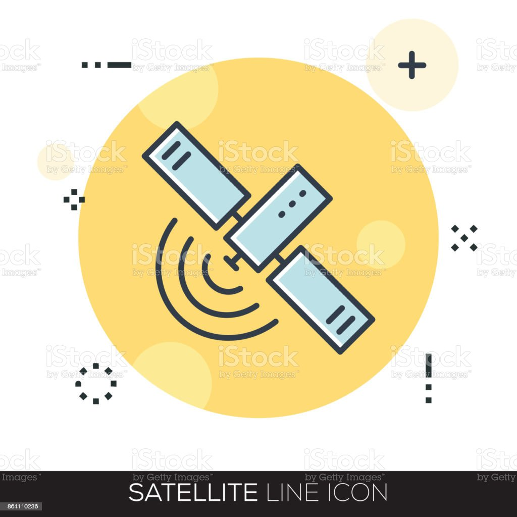 SATELLITE LINE ICON royalty-free satellite line icon stock vector art & more images of astronomy