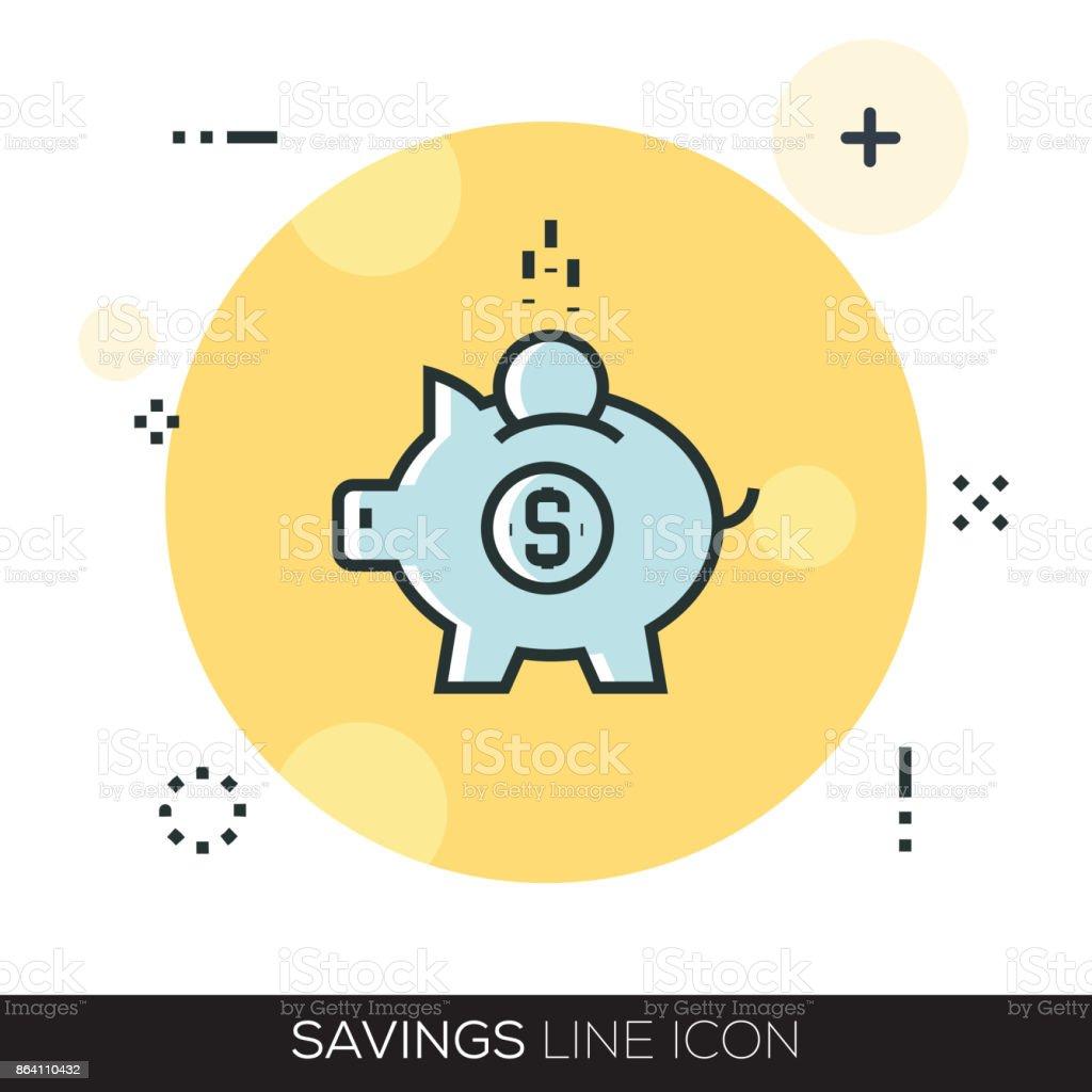 SAVINGS LINE ICON royalty-free savings line icon stock vector art & more images of bag