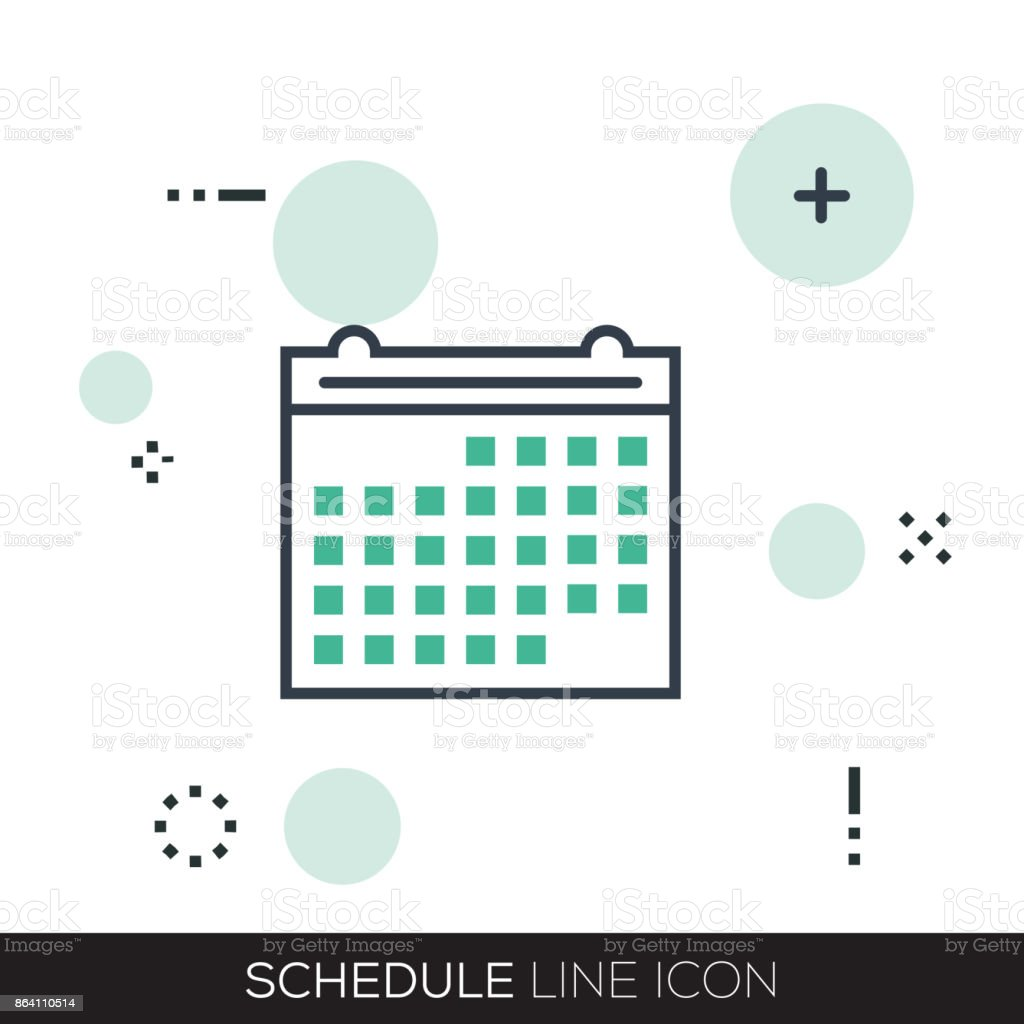 SCHEDULE LINE ICON royalty-free schedule line icon stock vector art & more images of business