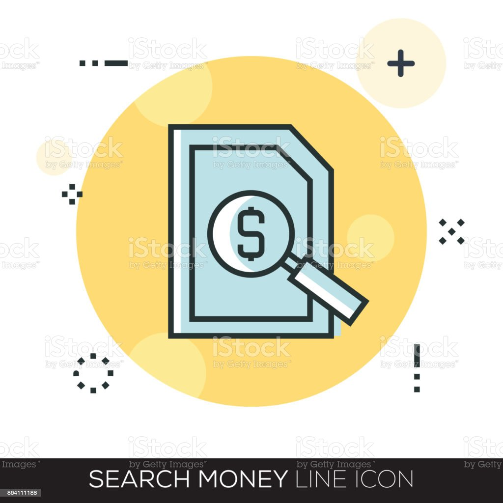 SEARCH MONEY LINE ICON royalty-free search money line icon stock vector art & more images of abstract