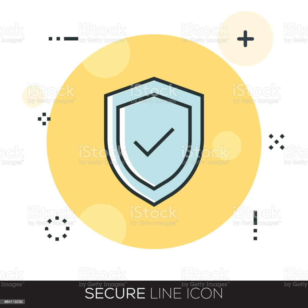 SECURE LINE ICON royalty-free secure line icon stock vector art & more images of accessibility