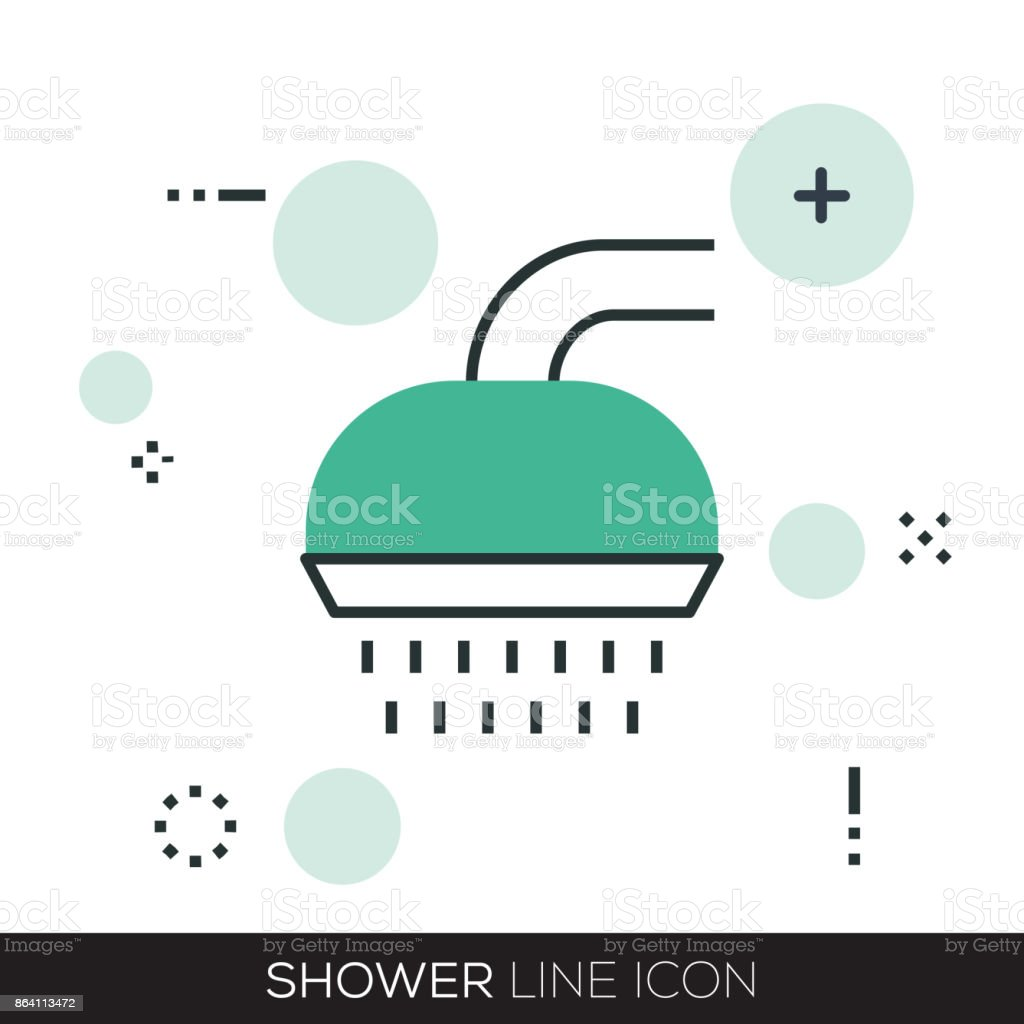 SHOWER LINE ICON royalty-free shower line icon stock vector art & more images of apartment