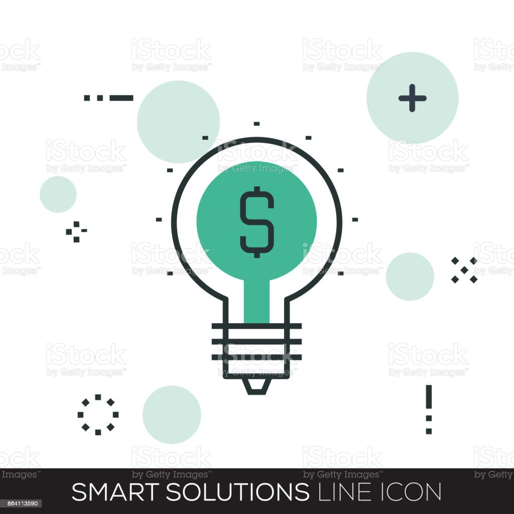 SMART SOLUTIONS LINE ICON royalty-free smart solutions line icon stock vector art & more images of abstract