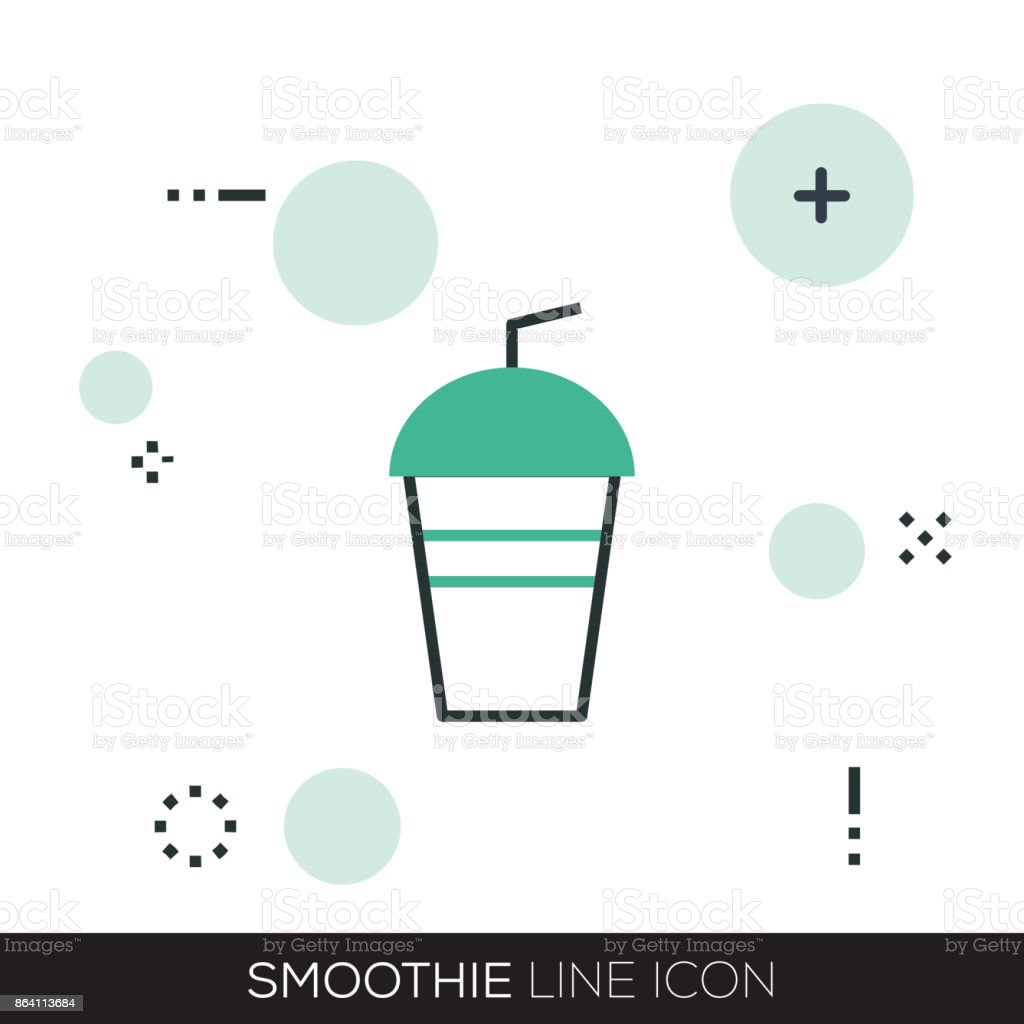 SMOOTHIE LINE ICON royalty-free smoothie line icon stock vector art & more images of apple - fruit