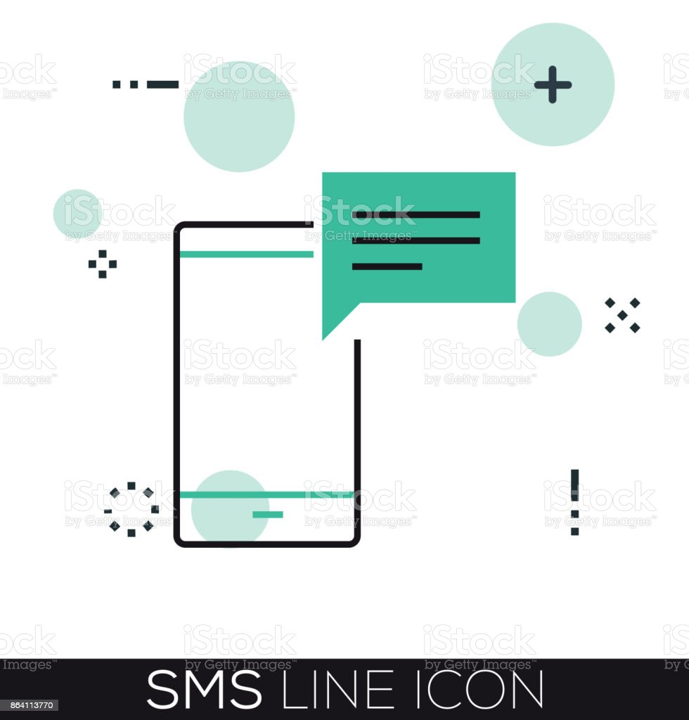 SMS LINE ICON royalty-free sms line icon stock vector art & more images of backgrounds