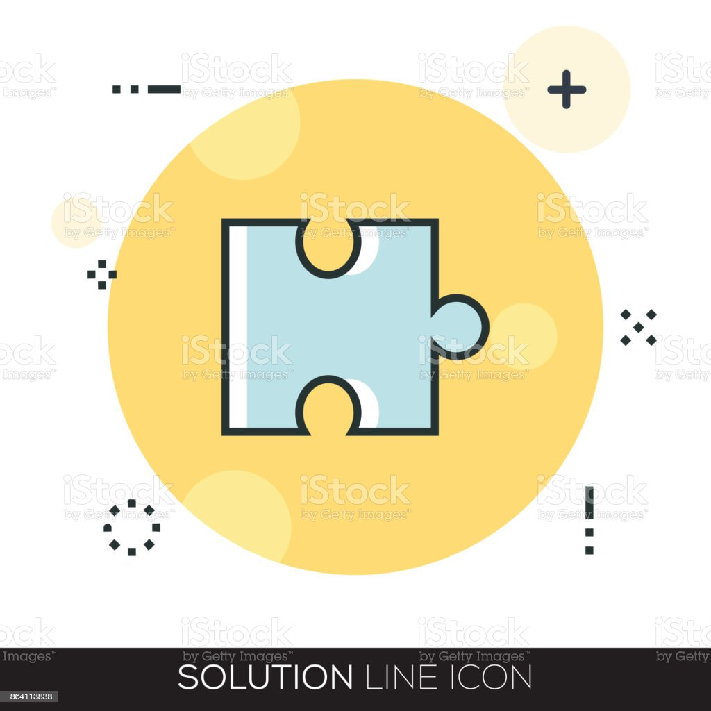 SOLUTION LINE ICON royalty-free solution line icon stock vector art & more images of advice