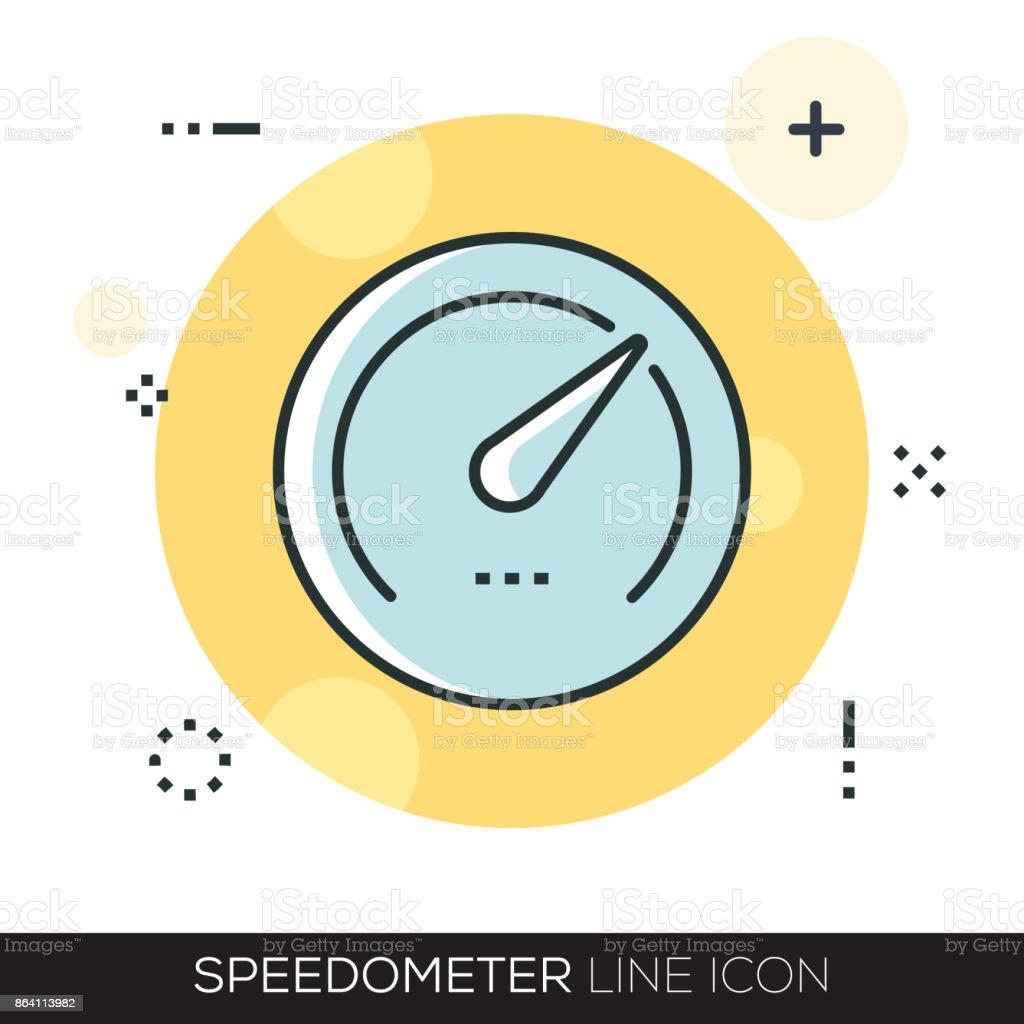 SPEEDOMETER LINE ICON royalty-free speedometer line icon stock vector art & more images of arrow symbol