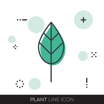 PLANT LINE ICON