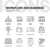 WORKFLOW AND BUSINESS LINE ICONS