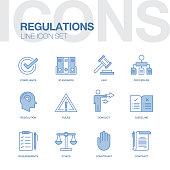 REGULATIONS LINE ICONS