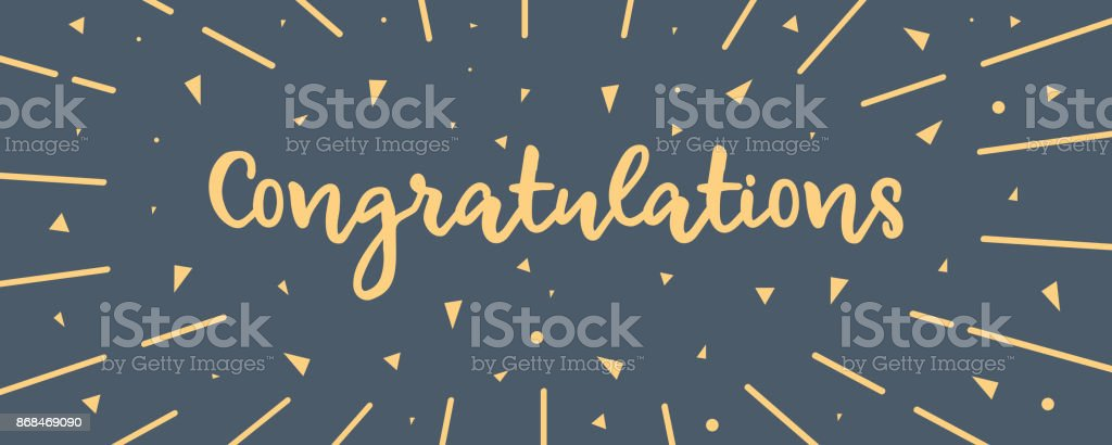 CONGRATULATIONS BANNER vector art illustration