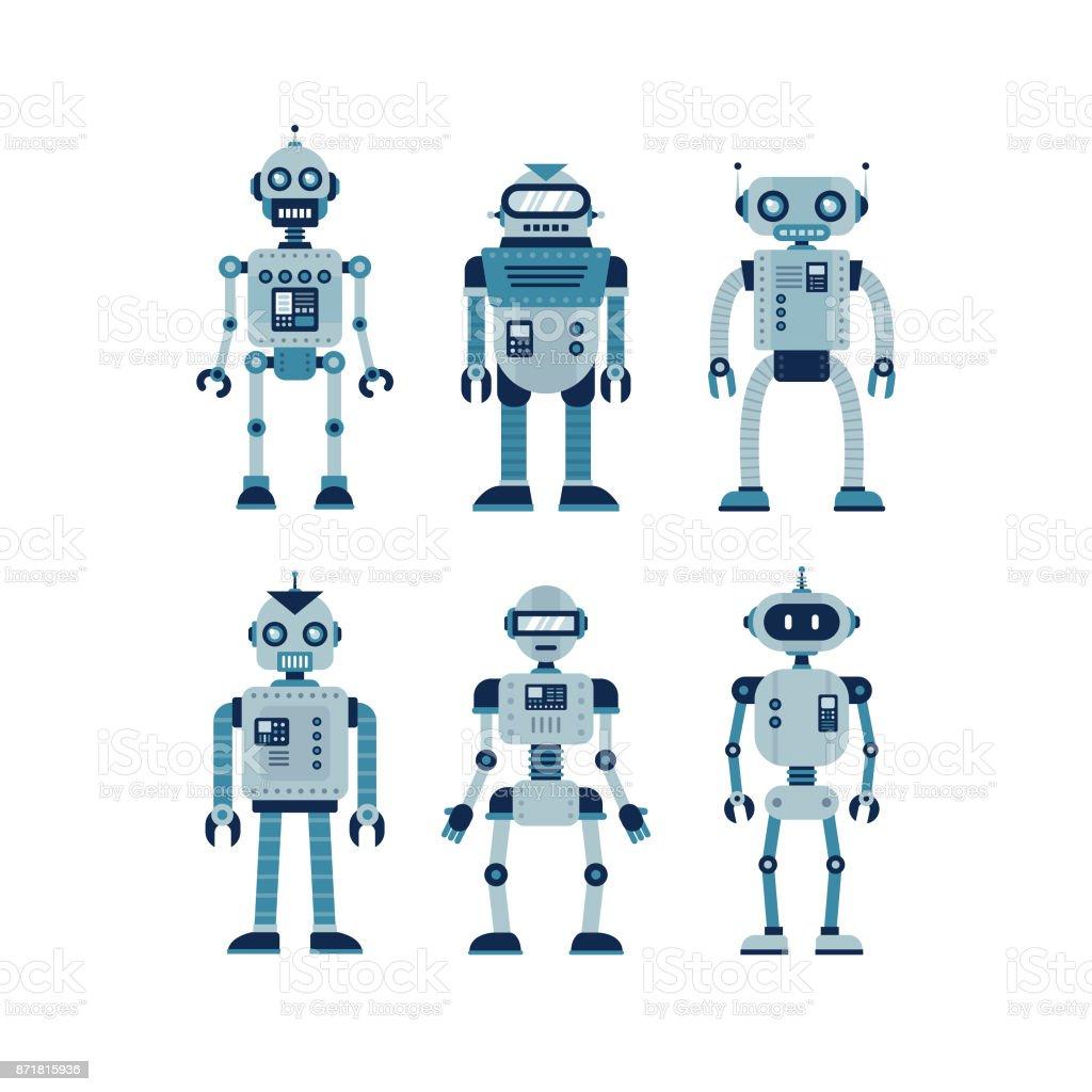 ROBOTS DE ilustración de robots de y más banco de imágenes de ciencia libre de derechos