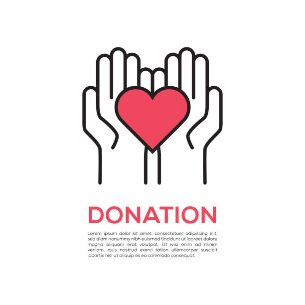 DONATION CONCEPT vector art illustration