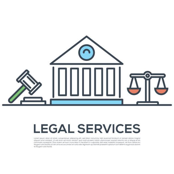 ilustrações, clipart, desenhos animados e ícones de serviços jurídicos - assistente jurídico