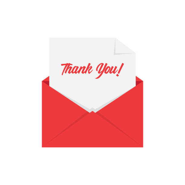 royalty free thank you letter clip art vector images
