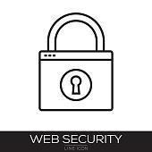 WEB SECURITY LINE ICON