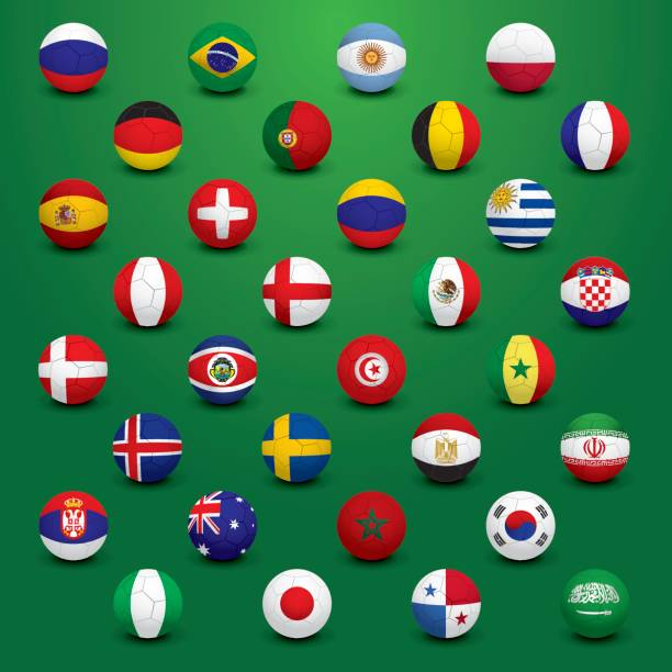 サッカー フラグ - ロシアの国旗点のイラスト素材/クリップアート素材/マンガ素材/アイコン素材