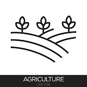 AGRICULTURE LINE ICON