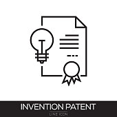 INVENTION PATENT LINE ICON