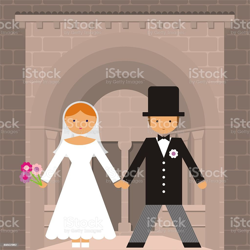 WEDDING COUPLE royalty-free wedding couple stock vector art & more images of adult