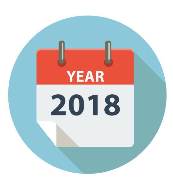 stockillustraties, clipart, cartoons en iconen met jaar 2018 - 2018
