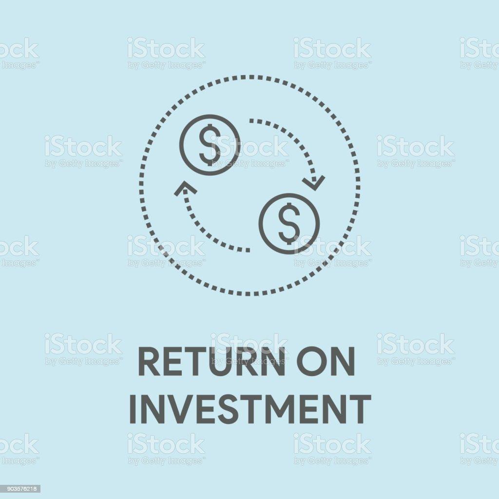 RETURN ON INVESTMENT CONCEPT vector art illustration