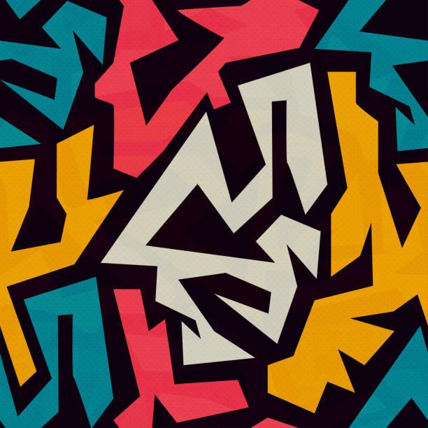 щаблон цвет colored graffiti seamless texture graffiti background stock illustrations